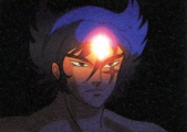 <p>Cale/Anubisu with his essence of humanity glowing.</p>