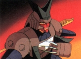 <p>Cale/Anubisu kneeling in his armor.</p>