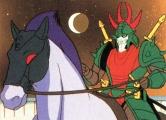 <p>Sekhmet/Naaza on a Netherworld/Youjakai horse.</p>