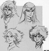 <p>Concept art of the 4 Dark Warlords/Mashou.</p>