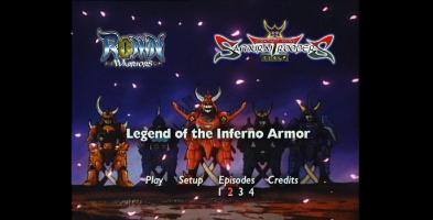 Bandai Legend of the Inferno Armor Menu
