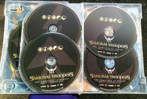 Inside of the Samurai Troopers TV Series Collection