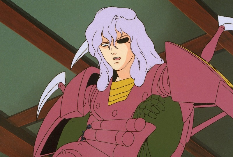 Dais / Rajura in his armor without his helmet.